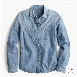 J. Crew Point Sur Japanese Denim Button-up Shirt